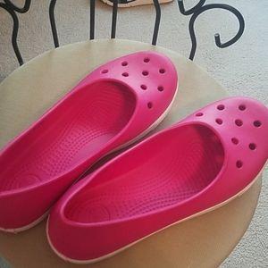 Crocs Fushia Slip-ons